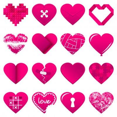 Adesivo 16 Abstract Pink Hearts