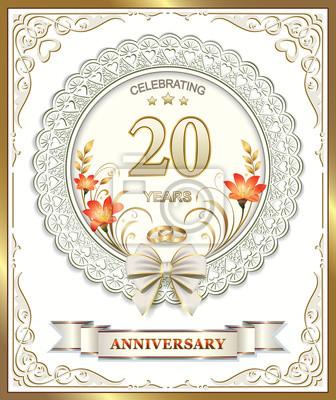 Anniversario Di Matrimonio 20.20 Anniversario Di Matrimonio In Una Splendida Cornice Adesivi