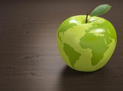 Adesivo 3d mela Mondiale della Sanità