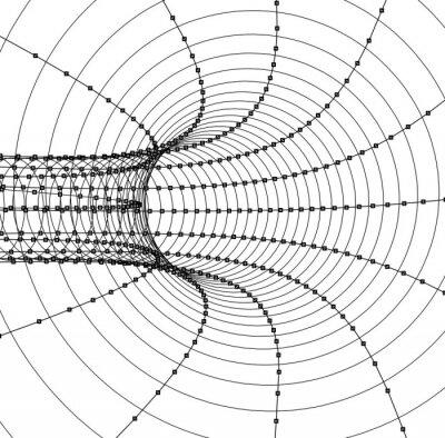 Adesivo 3D Tunnel astratto o un tubo
