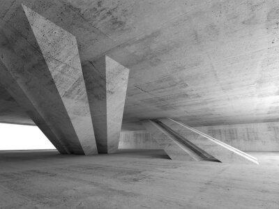 Adesivo 3d vuoto concreto sala interna