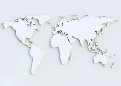 Adesivo 3D World Map - Mappa del mondo 3D