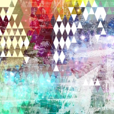Adesivo Abstract background stile grunge con effetto distressed