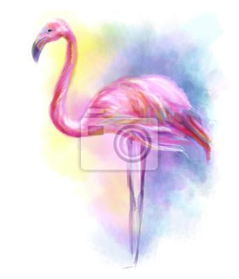 Adesivo Abstract flamingo pink illustration