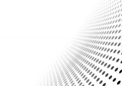 Adesivo Abstract punteggiata Sfondo di prospettiva - gradiente Effetto illustrazione, vettore
