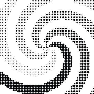 Adesivo Abstract swirl punto mezzatinta vettore