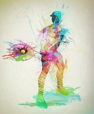 Adesivo Abstract tennis player