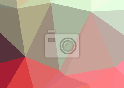 Adesivo Abstract triangle polygonal illustration, which consist of triangles. Geometric background in Origami style with gradient. Triangular design for your business