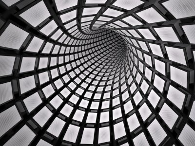 Adesivo Abstract tunnel, 3D