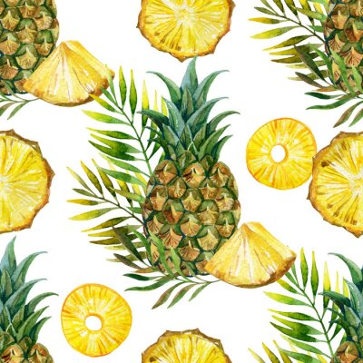 Adesivo acquarello ananas seamless