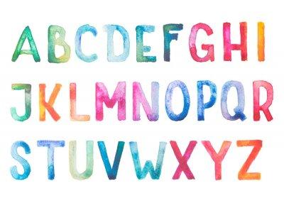 Adesivo Acquerelli acquerello colorato fontType disegnare a mano a mano