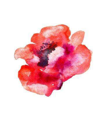 Adesivo Acquerello fiore di papavero