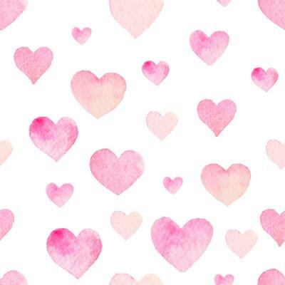 Adesivo Acquerello modello senza soluzione di vettore con il cuore per San Valentino