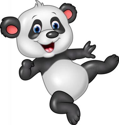 Adesivo Adorabile baby panda isolato su sfondo bianco