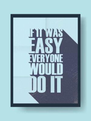 Adesivo Affari poster motivazionale circa duro lavoro contro la pigrizia su sfondo vettoriale vintage. messaggio tipografia lunga ombra