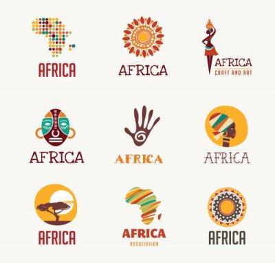 Adesivo Africa, icone Safari e set dei corpi
