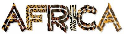 Adesivo Africa patchwork con tessuto e pelle texture