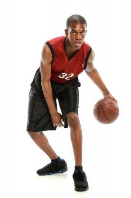 Adesivo African American Basketball Player