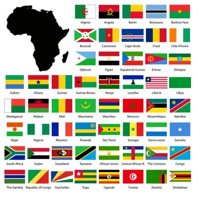 Adesivo African flags