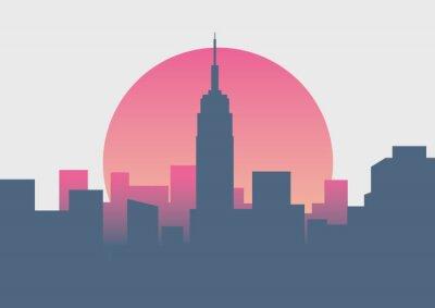 Adesivo Alba minima di bella alba di New York