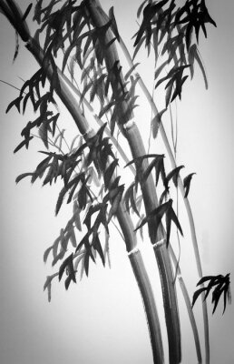 Adesivo alberi di bambù