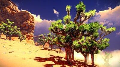 Adesivo Alberi di Joshua in deserto