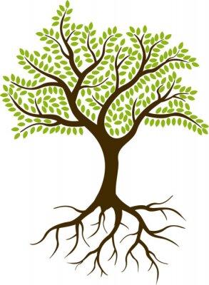Adesivo albero silhouette