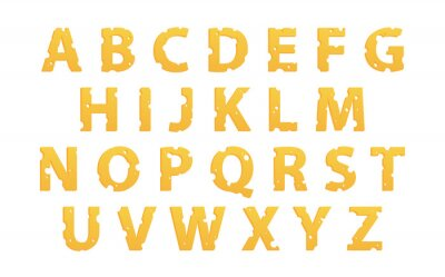 Adesivo Alfabeto a base di formaggio
