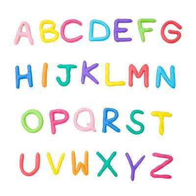 Adesivo alfabeto colorato a alla z