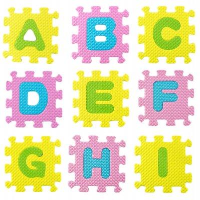 Adesivo Alfabeto di puzzle