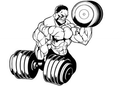 Adesivo allenamento bodybuilder muscolare