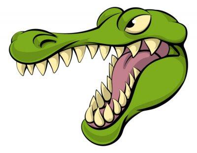 Adesivo Alligator o coccodrillo personaggio dei cartoni animati