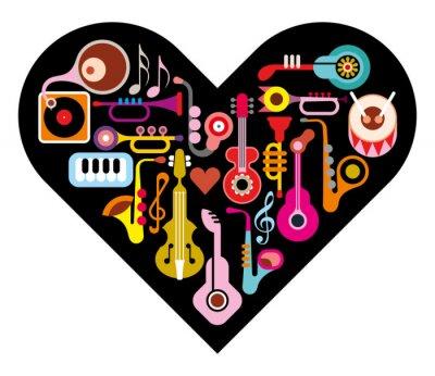 Adesivo Amore Musica