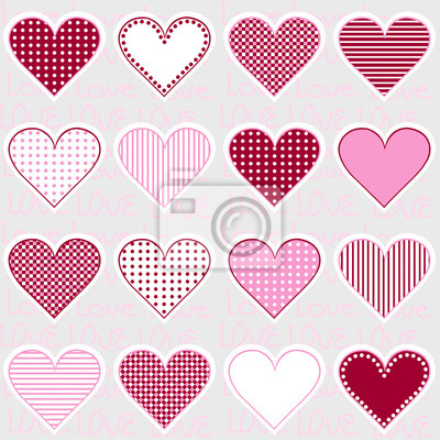 Cornici A Cuore Per Foto.Adesivo Amore Sfondo Con Cornici Di Cuore Su Rosa Modello Per La Bambina
