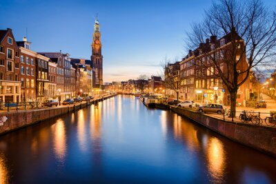 Adesivo Amsterdam di notte, Paesi Bassi