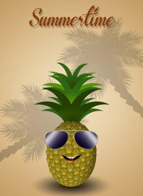 Adesivo Ananas divertente per l'estate