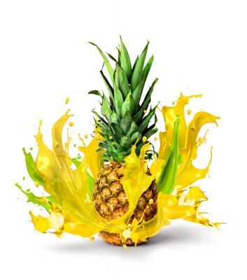 Adesivo ananas fresco gusto succoso spruzzi