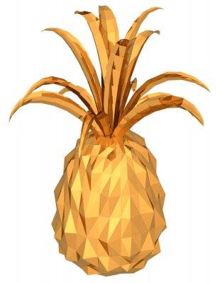 Adesivo ananas oro