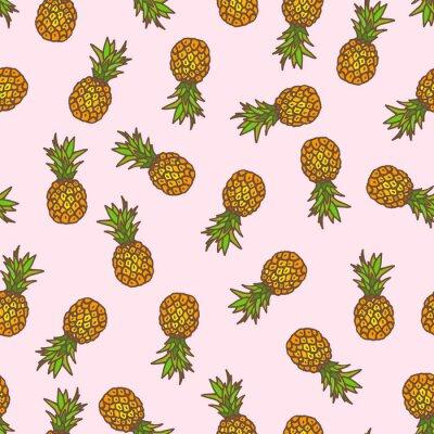 Adesivo Ananas sfondo senza soluzione di continuità.