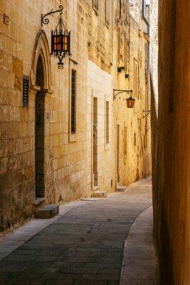 Adesivo Ancient narrow maltese street in Mdina
