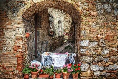 Adesivo angolo pittoresco a San Gimignano