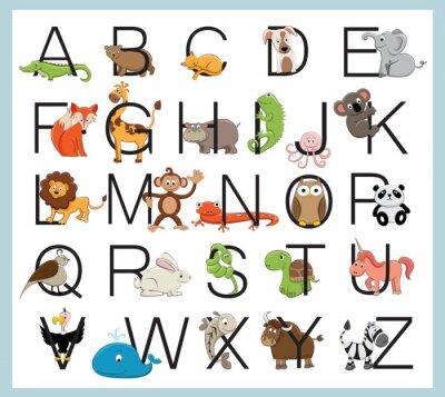 Adesivo Animali Alfabeto