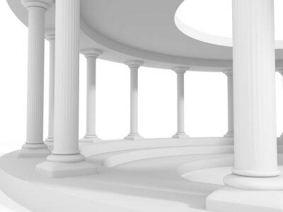Adesivo antica architettura in stile colonna disegno di sfondo