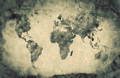 Adesivo Antico, vecchio mappa del mondo. Matita schizzo, sfondo d'epoca
