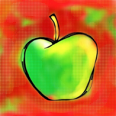 Adesivo Apple Painting