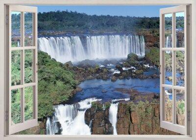 Adesivo Aprire windoq VISUAL panoramica a Iguacu Falls, Brasile