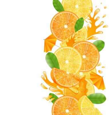 Adesivo Arance e limoni a fette