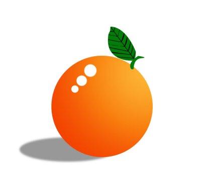 Adesivo Arancione frutta isolato