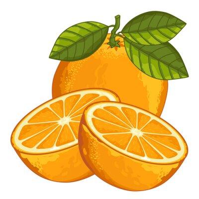 Adesivo Arancione isolato su sfondo bianco.