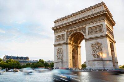 Adesivo Arc de Triomphe a Parigi pomeriggio